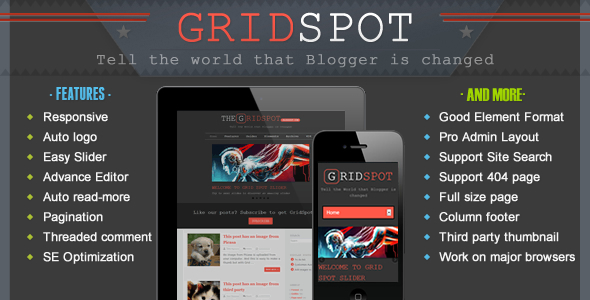 Grid Spot – Responsive Blogger Template Feature Image
