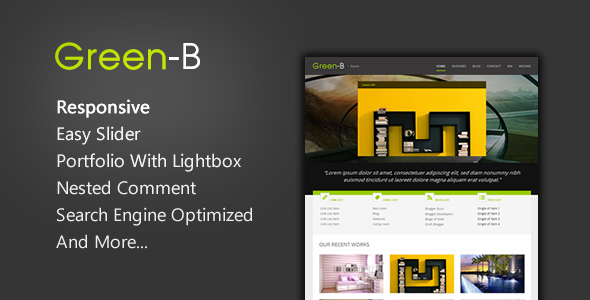 GreenB – Reponsive Blogger Template Feature Image