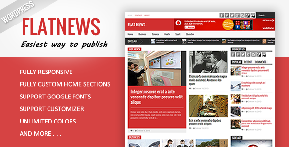Flat News – Responsive Magazine WordPress Theme Feature Image