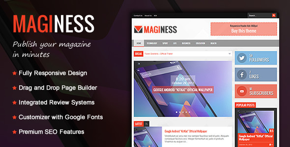 Maginess – Flexible Magazine WordPress Theme Feature Image