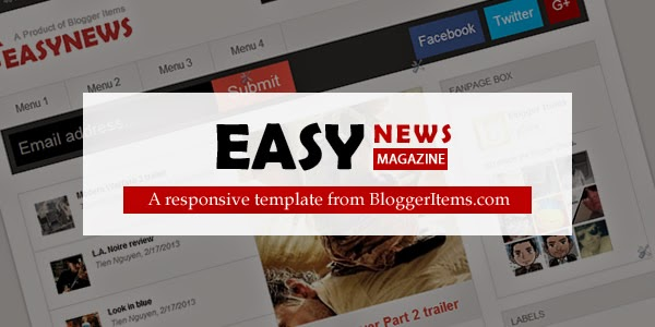 Easy News – Free Responsive Magazine Blogger Template Feature Image