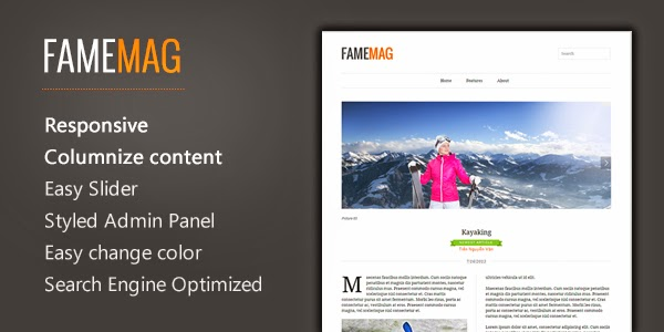 FameMag – Free Minimalist Blogger Template for News & Magazine Feature Image