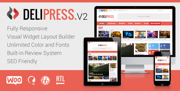 Delipress – Magazine and Review WordPress Theme Feature Image
