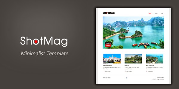 ShotMag – Minimalist Blogger Template for Photoblog
