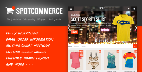 SpotCommerce – Blogger Shopping Template Feature Image