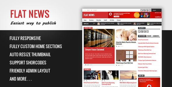 Flat News – Easy News and Magazine Blogger Template Feature Image