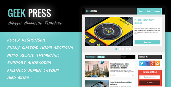 Geek Press – Responsive News & Magazine Template Feature Image