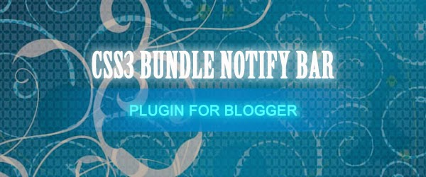 Hello / Notify Bar Widget For Blogger Blogspot Feature Image