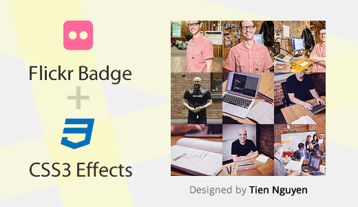 Simple Flickr Badge with CSS3 Effects for Blogger / Blogspot Feature Image