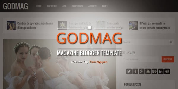 GodMag – Flexible Magazine Template for Blogger