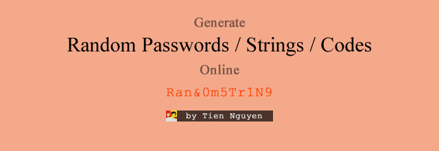 Gerand Tool – Generate Random Passwords, Strings and Codes Online