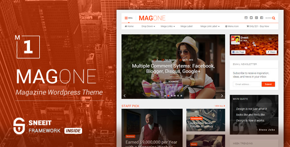 MagOne – Responsive Magazine Blogger Template Feature Image