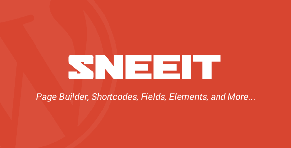 Sneeit Framework – Plugin for WordPress Theme Back-end Feature Image