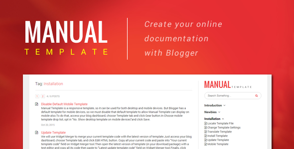Manual Template – Create Your Online Document with Blogger Feature Image