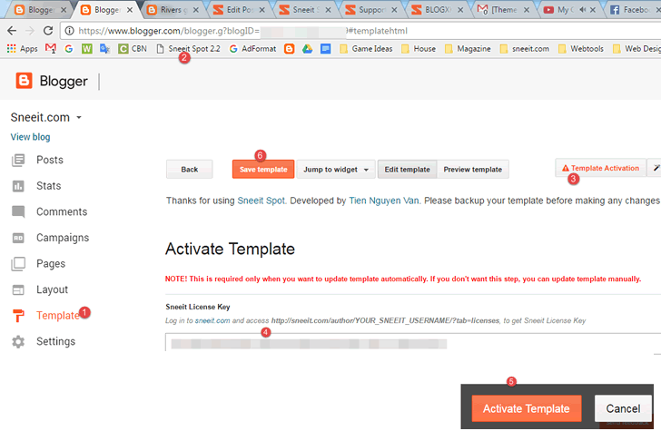 Activate-Blogger-Template