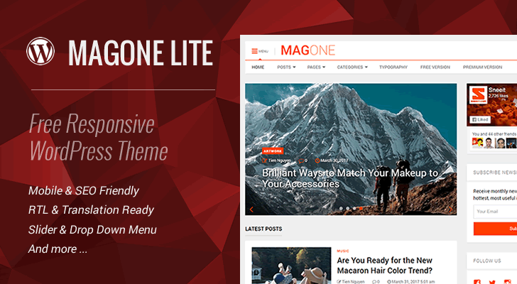 MagOne Lite 2.2 – Free Responsive WordPress Theme Feature Image