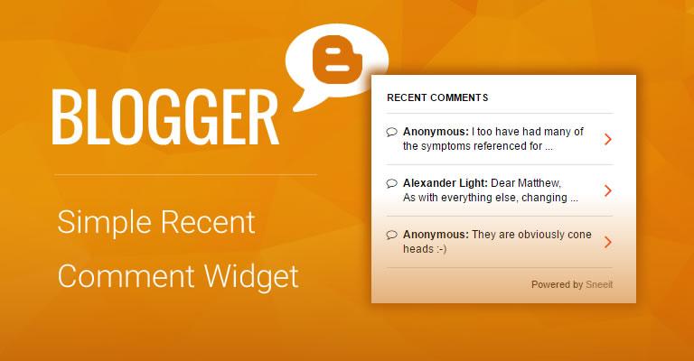 Simple Recent Comment Widget for Blogger / Blogspot Feature Image