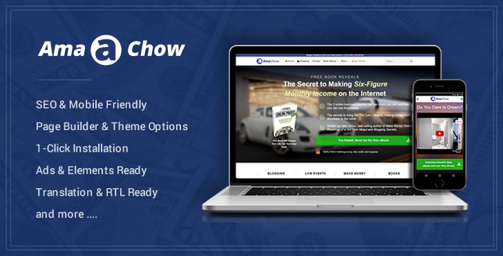 Amachow – WordPress Theme for Affiliate Marketers Feature Image