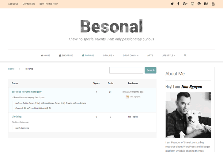 Besonal Forum Feature powered by BbPress Plugin
