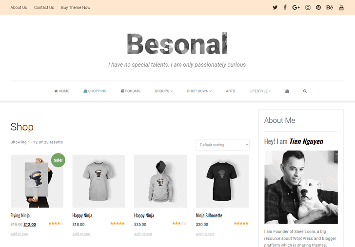 Besonal Shop Feature powered by WooCommerce Plugin