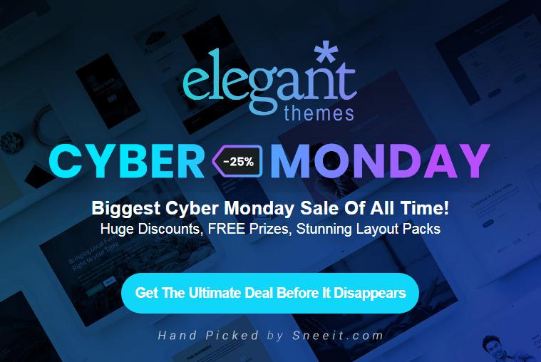 ElegantThemes Gigantic Cyber Monday Sale