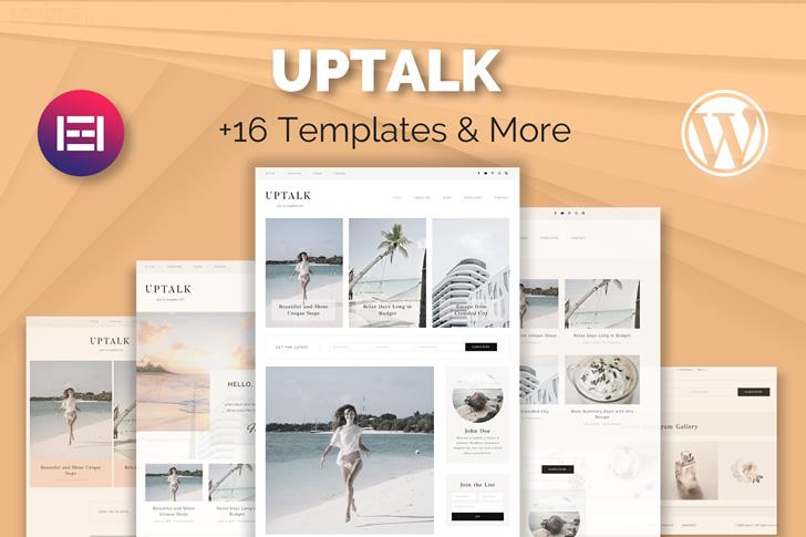 UpTalk – Blogging and Magazine WP Elementor Template Kit Feature Image