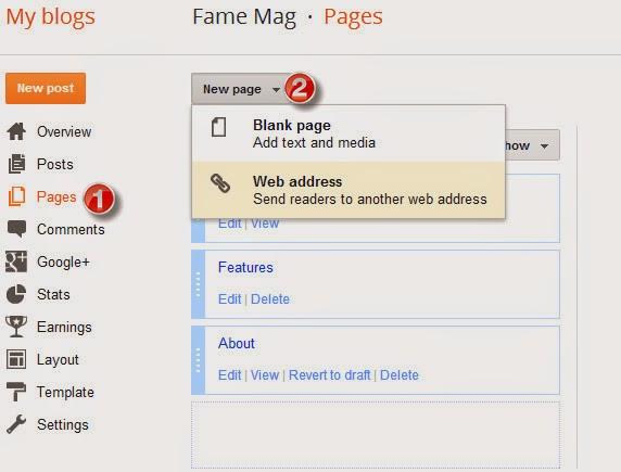 Main Menu - FameMag – Free Minimalist Blogger Template for News & Magazine