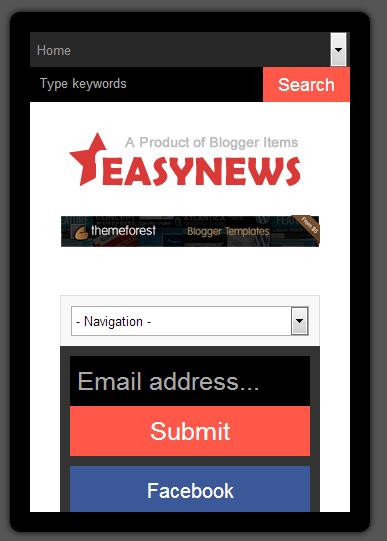 Easy News – Free Responsive Magazine Blogger Template Mobile Test