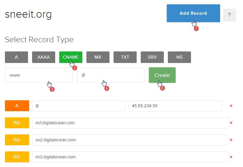 Add Cname - Install Nginx for WordPress on Digital Ocean VPS Hosting with Centminmod (LEMP)
