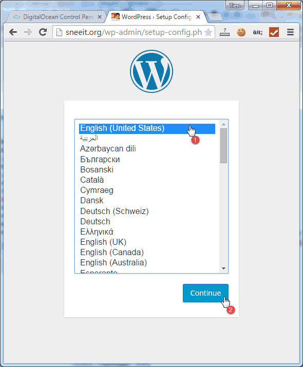 Wordpress Select Language - Install Nginx for WordPress on Digital Ocean VPS Hosting with Centminmod (LEMP)