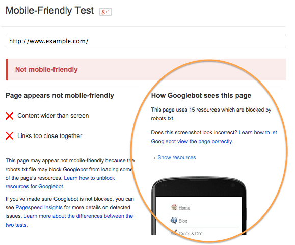 Score - Google Mobile Friendly Algorithm Update