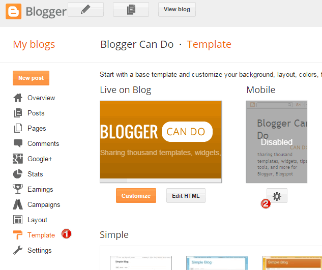 How to enable responsive feature for custom Blogger template - Access?