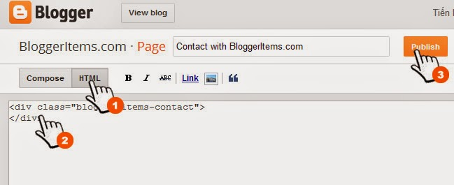 Contact Form for Blogger shotcode