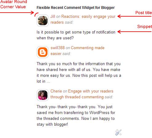 Flexible Recent Comment Widget for Blogger
