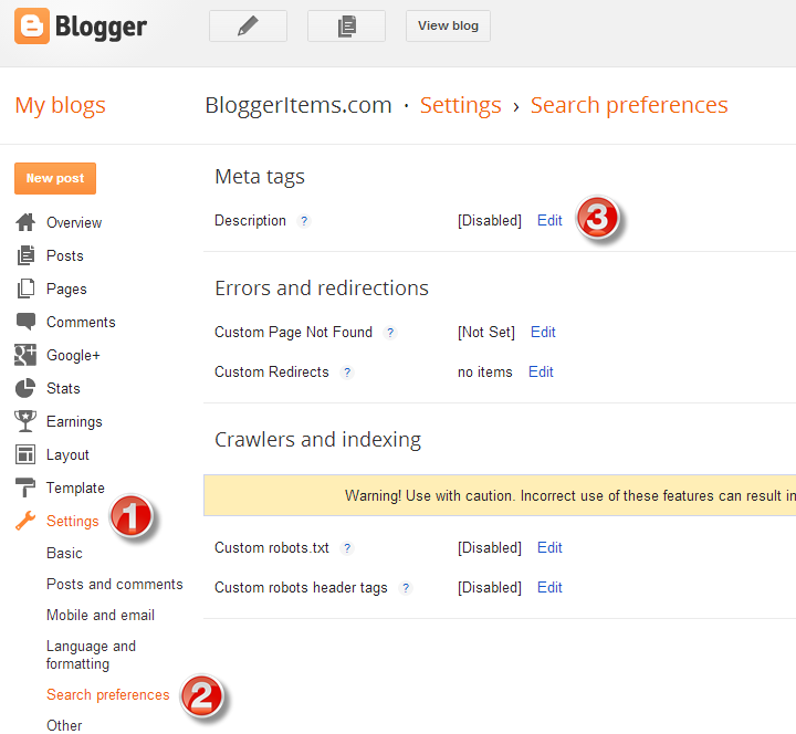 Access Blogger Search References