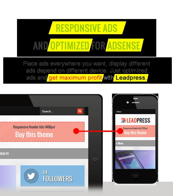 Responsive Ads - Maginess - Flexible WordPress Theme