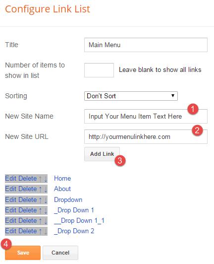 Add Menu Items: Easy Grid - Responsive Portfolio Masonry Blogger Template