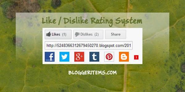 Like and Dislike Rating System for Blogger Banner