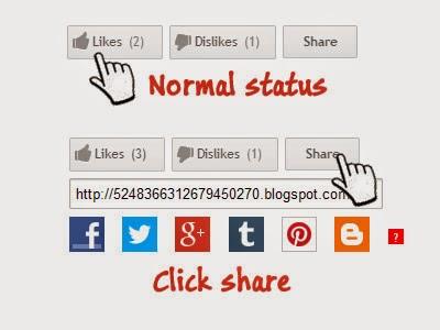 Like and Dislike Rating System for Blogger Screenshot