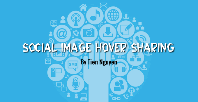 Simple Social Image Hover Sharing Plugin for Blogger - Blogspot
