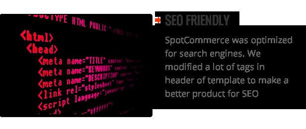 SEO friendly - SpotCommerce Blogger Shopping Template