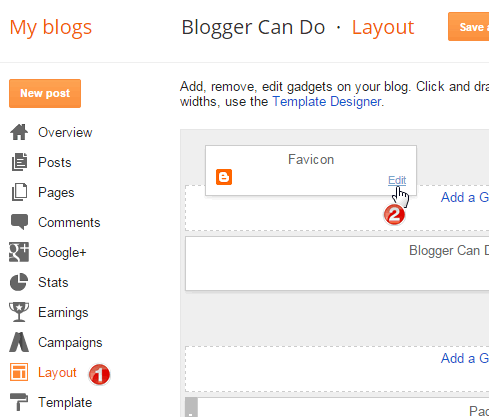 How to upload favicon image for Blogger Blogspot website?