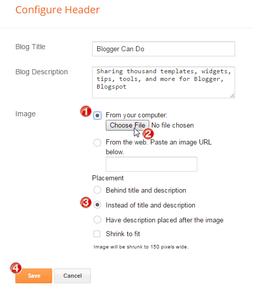 How to Upload Logo for your Blogger Blogspot Website
